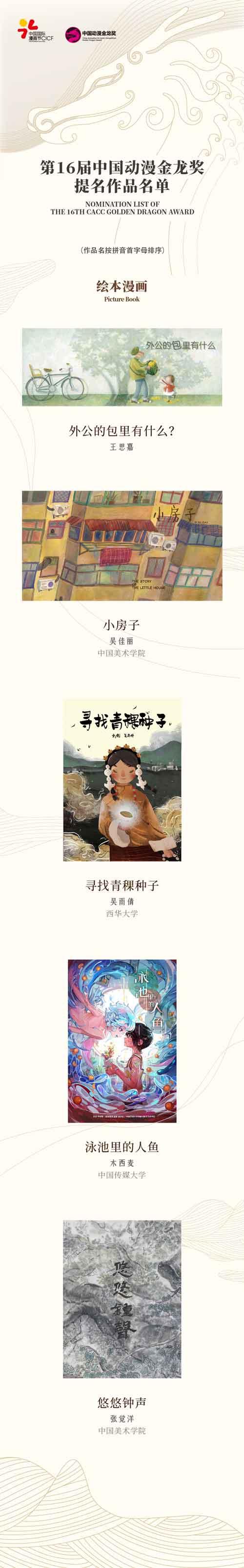 第16届中国动漫金龙奖提名名单揭晓! 原创专区-第2张