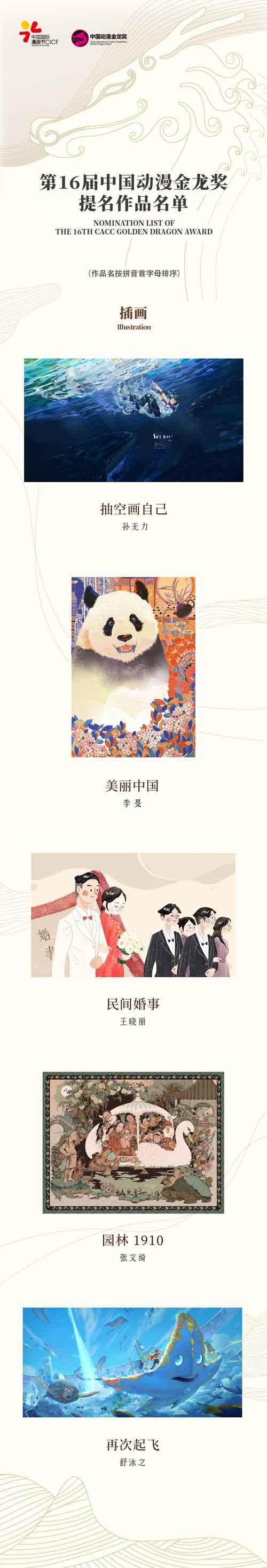 第16届中国动漫金龙奖提名名单揭晓! 原创专区-第3张