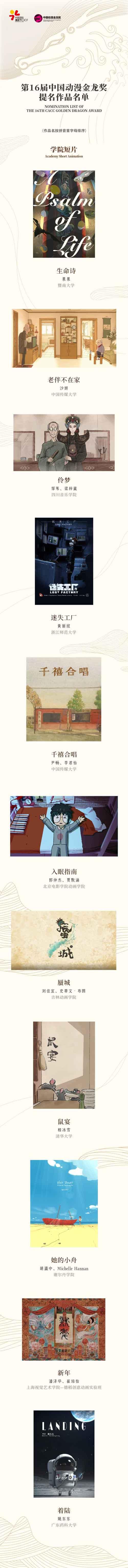 第16届中国动漫金龙奖提名名单揭晓! 原创专区-第7张